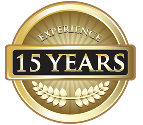15 Years Experience Seal