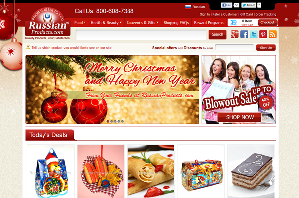 russian products website homepage