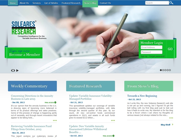 web design for market research firm